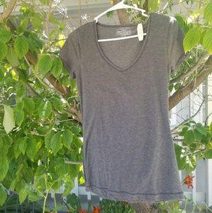 NWT Victoria's secret one size grey vneck shirt